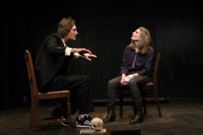 Michael Laurence and Annette O'Toole in a scene from Hamlet in Bed (Photo credit: Tristan Fuge)