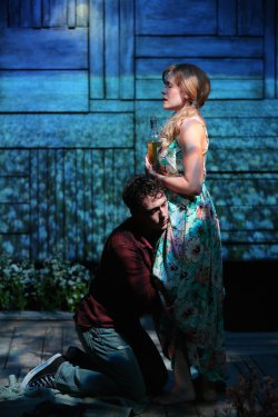 "John Skelley and Megan Bartle in a scene from Rebecca Gilman's ""The Field of Blue Children"" (Photo credit: Carol Rosegg)"