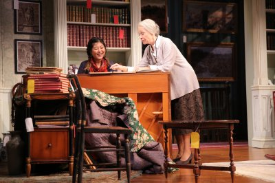 "Kahyun Kim and Maureen Anderman in a scene from A.R Gurney's ""Love & Money"" (Photo credit: Joan Marcus)"