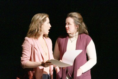"Margy Love and Catie Humphreys in a scene from ""The Black Book"" (Photo credit: Andrew Zeiter)"