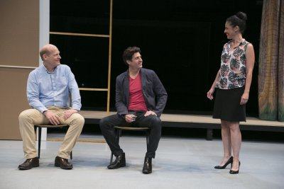 Jim Fletcher, Gary Wilmes and Tory Vazquez in a scene from Richard Fletcher's Isolde (Photo credit: Gerry Goodstein)