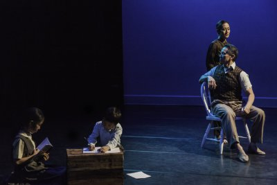 """H.T. Chen & Dancers in a scene from """"South of Gold Mountain"""" (Photo credit: Joe Boniello)"""