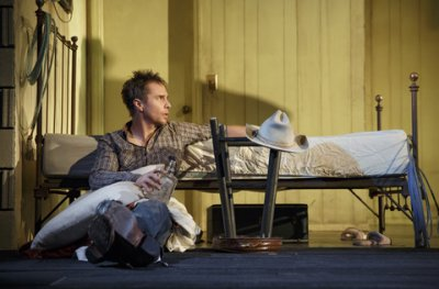 """Sam Rockwell in a scene from """"Fool for Love"""" (Photo credit: Joan Marcus)"""