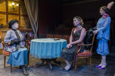 "Emily Jon Mitchell, Alexandra O'Daly and Erin Leigh Schmoyer in a scene from ""The Awful Truth"" (Photo credit: Jacob J. Goldberg)"