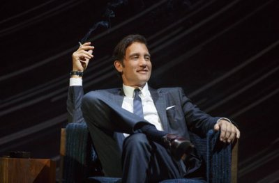 "Clive Owen in a scene from Harold Pinter's ""Old Times"" (Photo credit: Joan Marcus)"