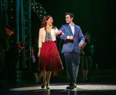 Laura Osnes and Corey Cott in The Bandstand
