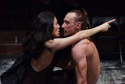 "Mia Yoo and Marko Mandič in a scene from ""Pylade"" (Photo credit: Theo Cote)"