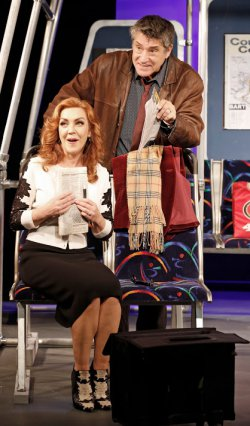 "Andrea McArdle and Kip Gilman in a scene from the romantic comedy ""2 Across"" (Photo credit: Carol Rosegg)"