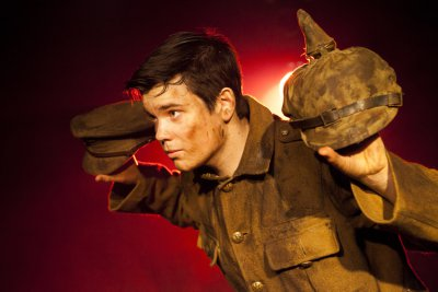 "Alex Gwyther as Private James Boyce in a scene from ""Our Friends the Enemy"" (Photo credit: Patricia Raith)"