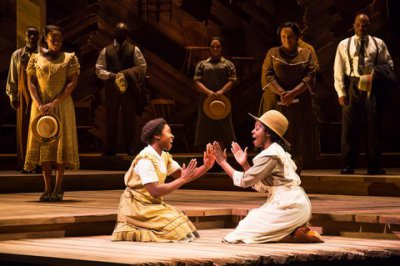 "Cynthia Erivo and Joaquina Kalukango in a scene from ""The Color Purple"" (Photo credit: Matthew Murphy)"