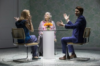 """Lisa Emery, Lois Smith and Noah Bean in a scene from """"Marjorie Prime"""" (Photo credit: Jeremy Daniel)"""