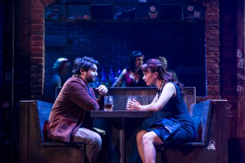 "Alex Brightman and Sierra Boggess in a scene from ""School of Rock - The Musical"" (Photo credit: Matthew Murphy)"