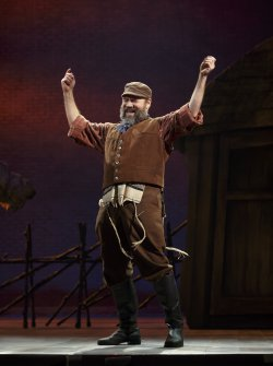 "Danny Burstein as Tevye in a scene from ""Fiddler on the Roof"" (Photo credit: Joan Marcus)"