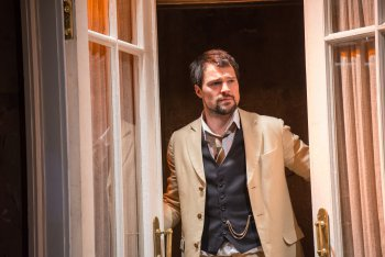 "Danila Kozlovskiy as Lopakhin in a scene from The Maly Drama Theatre of St. Petersburg's production of ""The Cherry Orchard"" (Photo credit: Stephanie Berger)"