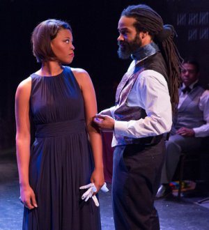 "Alana Barrett-Adkins as Mercedes and Carsey Walker, Jr. as Mondego in a scene from ""Monte Cristo"" (Photo credit: Hunter Canning)"