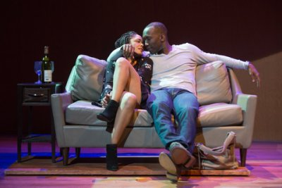 "Tessa Thompson and Mahershala Ali in a scene from ""Smart People"" (Photo credit: Matthew Murphy)"