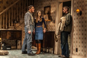 "Rich Sommer, Taissa Farmiga and Paul Sparks in a scene from Sam Shepard's ""Buried Child"" (Photo credit: Monique Carboni)"