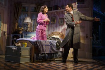 "Laura Benanti and Zachary Levi in a scene from ""She Love Me"" (Photo credit: Joan Marcus)"