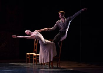 "Zoë McNeil and Riley O'Flynn in a scene from Jiri Kylián's ""Symphony of Psalms"" (Photo credit: Rosalie O'Connor)"