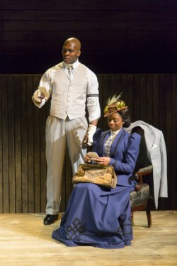 "Khris Davis and Montego Glover in a scene from ""The Royale"" (Photo credit: T. Charles Erickson)"