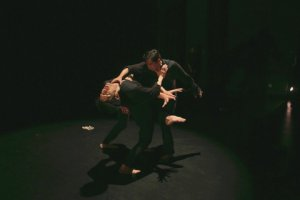 """I-Nam Jiemvitayanukoon and Luis Gabriel Zaragoza in a scene from """"Steps of Silence""""(Photo credit: Melissa Sobel/Meems Images)"""