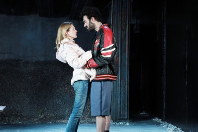 "Marin Ireland and Morgan Spector in a scene from ""Ironbound"" (Photo credit: Sandra Coudert)"