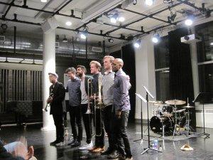 Dave Douglas, Zubin Hensler, Riley Mulherkar, Andy Clausen, Willem de Koch and Rudy Royston (Photo credit: Jean Ballard Terepka)