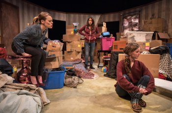 """Madison Comerzan, Jenna D'Angelo and Kim Krane in a scene from """"Keep"""" (Photo credit: Russell Rowland)"""