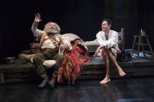 Sir Anthony Sher as Falstaff and Alex Hassell as Prince Hal in a scene from the RSC'sHenry IV, Part I (Photo credit: Richard Termine)