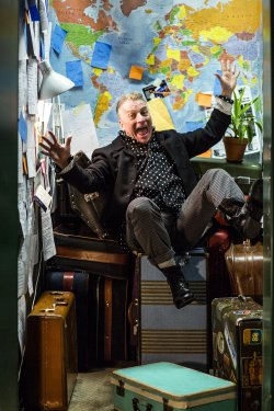 """Bill Bowers in a scene from """"All Over the Map"""" (Photo to credit: Maria Baranova-Suzuki)"""