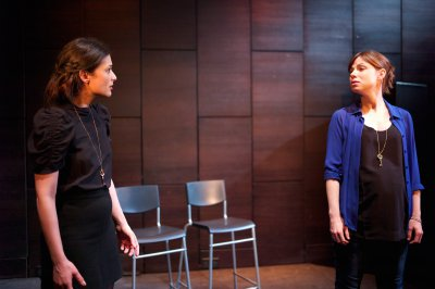"Daphne Alexander and Sarah Quintrell in a scene from ""Lullaby,"" part of ""City Stories"" (Photo credit: James Phillips)"