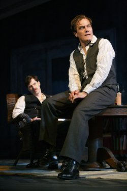 "John Gallagher, Jr. and Michael Shannon in a scene from ""Long Day's Journey into Night"" (Photo credit: Joan Marcus)"
