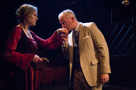 """Erin Beirnard and Kelly King in a scene from Eugene O'Neill's """"Recklessness""""(Photo credit: Svetlana Didorenko)"""