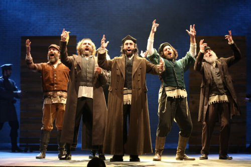 """Michael C. Bernardi in a scene from the 2015 revival of """"Fiddler on the Roof"""" (Photo credit: Joan Marcus)"""