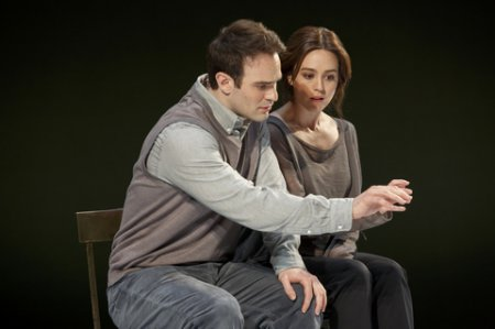 "Charlie Cox and Heather Lind in a scene from Nick Payne's ""Incognito"" (Photo credit: Joan Marcus)"
