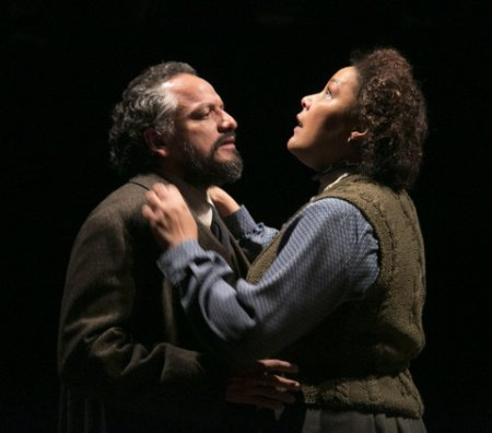 """Jesse J. Perez as Nils Krogstad and Linda Powell as Christine Linden in a scene from """"A Doll's House"""" (Photo credit: Gerry Goodstein)"""