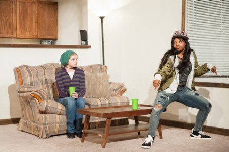 "Katherine Reis and Susan Heyward in a scene from ""The Purple Lights of Joppa Illinois"" (Photo credit: Ahron Foster)"