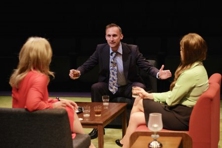 """Richard Stacey in a scene from Alan Ayckbourn's """"Confusions"""" (Photo credit: Tony Barthlomew)"""