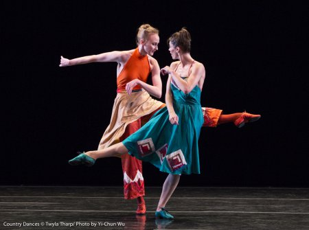 """Kaitlyn Gilliland and Eva Trapp in a scene from Twyla Tharp's """"Country Dances""""(Photo credit: Yi-Chun Wu)"""