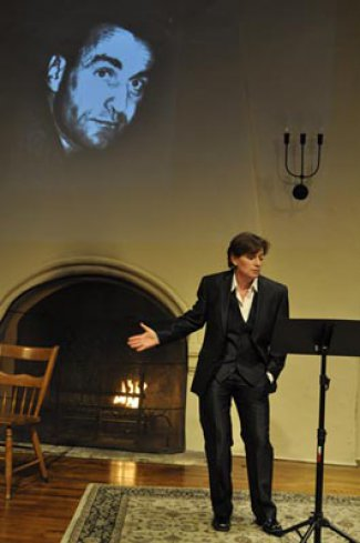 """Lisa Wolpe in a scene from """"Shakespeare and the Alchemy of Gender"""" (Photo credit: Steven Koeppe)"""