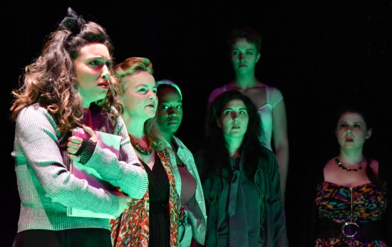 "The ensemble of ""Phoenix Rising: Girls and the Secrets We Keep"" (Photo credit: Jana Marcus)"