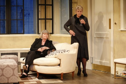 "Judith Ivey and Estelle Parsons in a scene from ""Out of the Mouths of Babes"" (Photo credit: Carol Rosegg)"