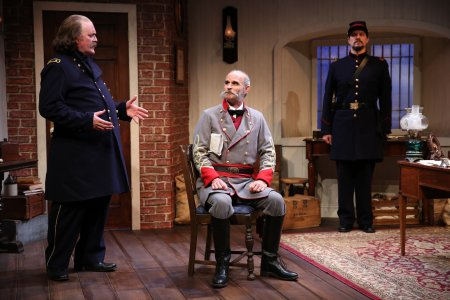 "Ames Adamson, David Sitler and Benjamin Sterling in a scene from ""Butler"" (Photo credit: Carol Rosegg)"