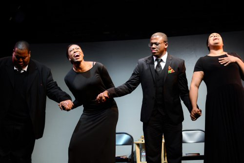 "Christian Lee Branch, Lauren Shaye, Marquis Gibson and Nicole Stacie in a scene from ""Mother Emanuel (Photo credit: Michela Rynczak)"