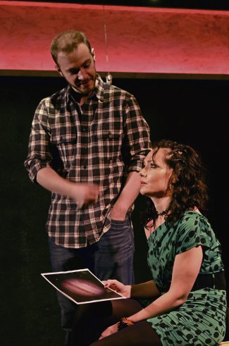 """Pete McElligott and Katrina Lenk in a scene from """"Touch"""" (Photo credit: Nikhil Saboo)"""