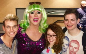 Hedda Lettuce and audience members at the  Cinépolis Chelsea.