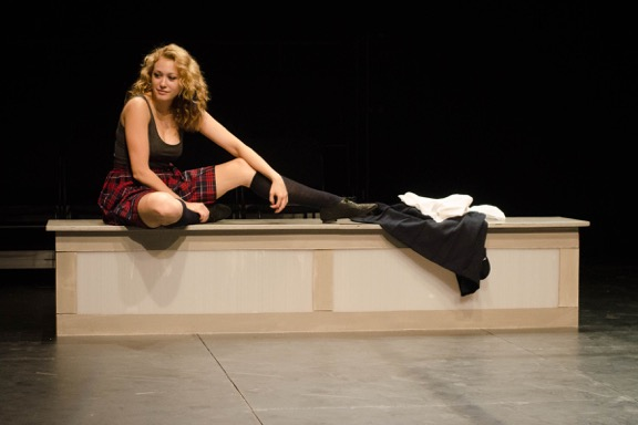 "Jill Shackner in a scene from ""Safe"" (Photo credit: Jenny Sharp)"