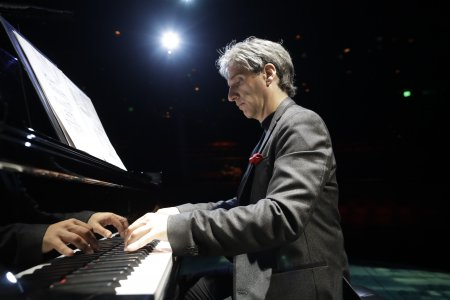 "Hershey Felder stars as Leonard Bernstein in ""Maestro"" at 59E59 Theaters (Photo courtesy of Hershey Felder Presents)"