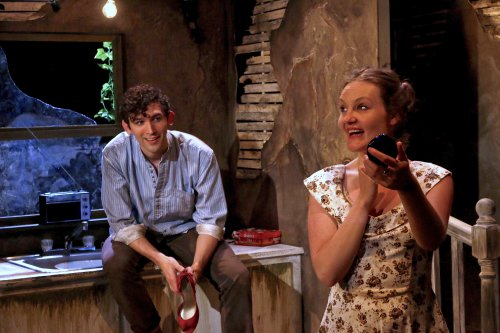 "John Charles McLaughlin and Gina Costigan in a scene from ""Crackskull Row"" (Photo credit: Michael Bonasio)"