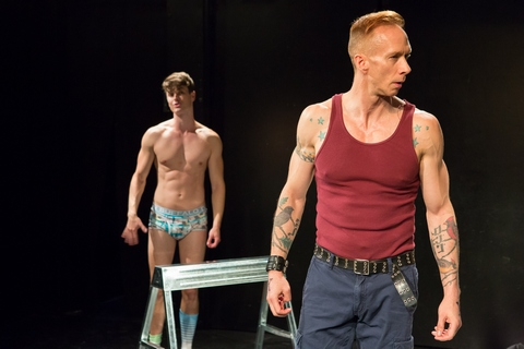 "Todd Flaherty and J.Stephen Brantley in a scene from ""The Jamb"" (Photo credit: Hunter Canning)"